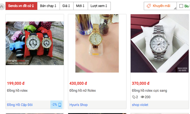 Rolex 200.000 dong, Chanel 99.000 dong ngap cho dien tu Viet hinh anh 2